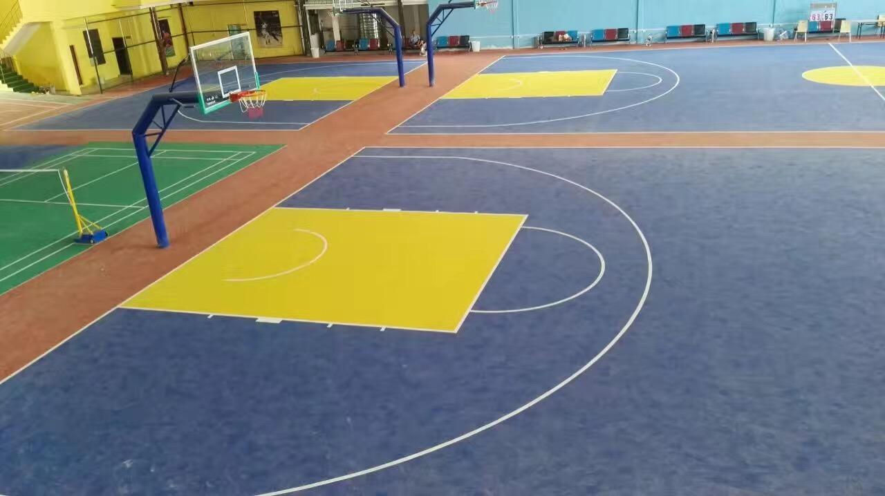 多彩色丙烯酸篮球场