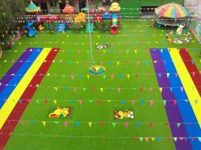 幼儿园彩虹人造草坪